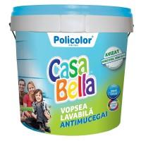 Vopsea lavabila interior, Casabella antimucegai, alba, 2.5 L