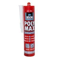 Adeziv pentru suprafete multiple, interior / exterior, Bison Poly Max Polymer, alb, 465 gr