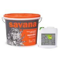 Vopsea superlavabila interior, Savana, alba, 15 L + Amorsa 4 L
