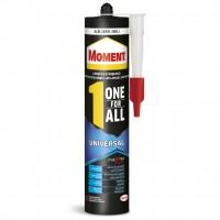 Adeziv pentru suprafete multiple, interior / exterior, Moment One for All Universal, alb, 390 gr