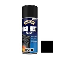 Spray email Hammerite Hi-Heat, efect mat, interior / exterior, negru, 0.4 L