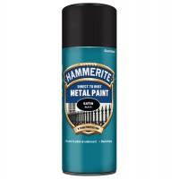 Spray email Hammerite, efect semilucios, interior / exterior, negru, 0.4 L