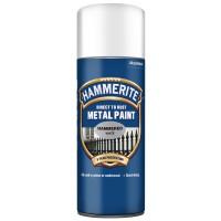 Spray email Hammerite, efect lovitura de ciocan, interior / exterior, alb, 0.4 L