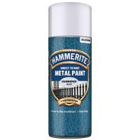 Spray email Hammerite, efect lovitura de ciocan, interior / exterior, argintiu, 0.4 L