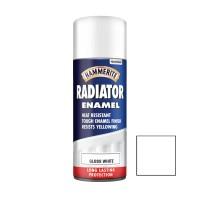 Spray email Hammerite Radiator, efect lucios, interior / exterior, alb, 0.4 L