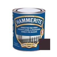 Vopsea alchidica pentru metal Hammerite - efect lucios, interior / exterior, maro inchis, 0.75 L