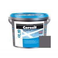 Chit de rosturi gresie si faianta Ceresit CE 40, coal (gri inchis) 18, interior / exterior, 5 kg