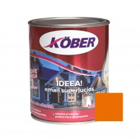 Vopsea alchidica pentru lemn / metal, Kober Ideea, interior / exterior, orange E512003-C0, 0.75 L