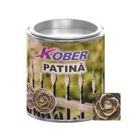 Vopsea patinata pentru metal Kober, interior / exterior, aurie, 0.2 L