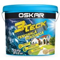 Tencuiala decorativa siliconica Oskar 3Teck, structurata, aspect scoarta de copac, mandarin, interior / exterior, 25 kg