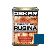 Vopsea alchidica Direct pe rugina Oskar, interior / exterior, albastru denim mat, 0.5 L