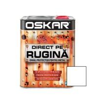 Vopsea alchidica Direct pe rugina Oskar, interior / exterior, alb mat, 2.5 L