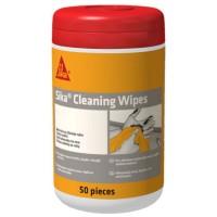 Servetele de curatare maini si scule, Sika Cleaning Wipes-100, cutie 50 bucati