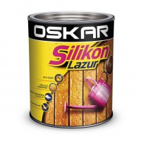 Lazura pentru lemn, Oskar Silikon Lazur, teak, interior / exterior, 2.5 L