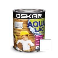 Lac pentru lemn Oskar Aqua Lac, alb, pe baza de apa, interior / exterior, 2.5 L