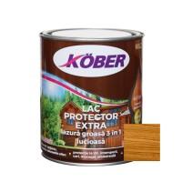 Lac / lazura groasa pentru lemn, Kober Extra 3 in 1, salcam, interior / exterior, 0.75 L