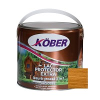 Lac / lazura groasa pentru lemn, Kober Extra 3 in 1, salcam, interior / exterior, 2.5 L