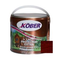 Lac / lazura groasa pentru lemn, Kober Extra 3 in 1, mahon inchis, interior / exterior, 2.5 L