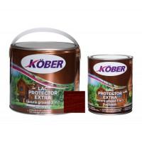 Lac / lazura groasa pentru lemn, Kober Extra 3 in 1, mahon inchis, interior / exterior, 2.5 L + 0.75 L