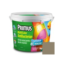 Chit de rosturi gresie si faianta Primus Multicolor Antibacterian B51 cool grey, interior / exterior, 5 kg