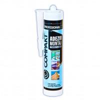 Adeziv montaj pentru suprafete multiple, interior / exterior, Compakt, transparent, 280 ml