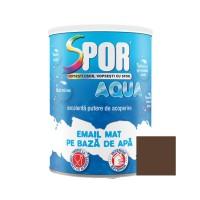 Vopsea acrilica pentru lemn / metal, finisaj mat, Spor Aqua, interior / exterior, pe baza de apa, maro mat, 0.7 L