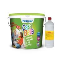 Vopsea lavabila interior, Casabella, alba, 8.5 L + amorsa 1 L