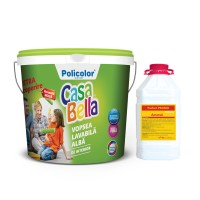 Vopsea lavabila interior, Casabella, alba, 15 L + amorsa 5 L