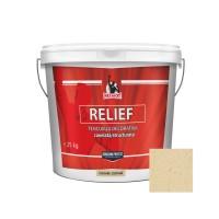 Tencuiala decorativa acrilica, interior / exterior, Patriot Relief, castana, structurata, 25 kg