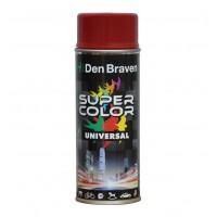Spray vopsea, Den Braven Super Color Universal, rosu inchis, RAL 3011, interior / exterior, 400 ml