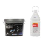 Vopsea lavabila interior, Adeplast Aeria Silver, alba, 15 L + amorsa 4 L