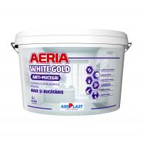 Vopsea superlavabila antimucegai, interior, Adeplast Aeria White Gold, Baie si Bucatarie, alba, 4 L