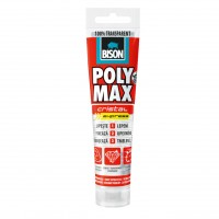 Adeziv pentru suprafete multiple, interior / exterior, Bison Poly Max Crystal Express, transparent, 115 gr.