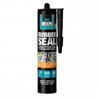 Hidroizolatie pe baza de bitum, Bison Rubber Seal, negru, 310 ml