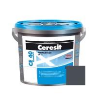 Chit de rosturi gresie si faianta Ceresit CE 40, iron grey, interior / exterior, 5 kg