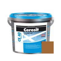 Chit de rosturi gresie si faianta Ceresit CE 40, almondtree brown, interior / exterior, 5 kg