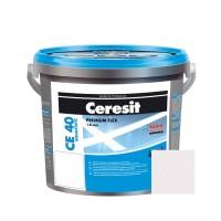 Chit de rosturi gresie si faianta Ceresit CE 40, ice glow, interior / exterior, 5 kg