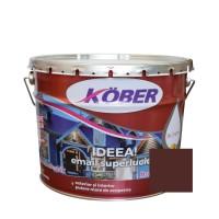 Vopsea alchidica pentru lemn / metal, Kober Ideea, interior / exterior, brun RAL 8017, 10 L