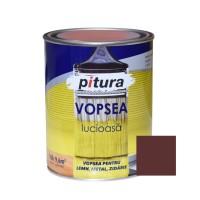 Vopsea alchidica pentru lemn / metal / zidarie, lucioasa, Pitura, interior / exterior, maro inchis, 0.6 L