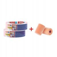 Pachet banda mascare Tesa Precision Mask 4333, roz, 50 m x 30 mm (2 buc) + rola trafalet (2 buc)