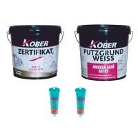 Vopsea superlavabila, interior, Kober Zertifikat, alba, 8.5 L + amorsa Putzgrund Weiss G8105 8.5 L + pigment culoare