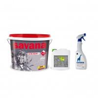 Vopsea superlavabila interior, Savana cu Teflon, alba, 15 L + amorsa 4 L + solutie antimucegai Savana
