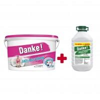 Vopsea lavabila interior, Danke Anti - bacterian, alba, 15 L + amorsa 4 L