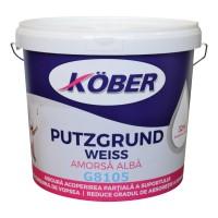 Amorsa perete Kober Putzgrund Weiss G8105, interior / exterior, 4 L