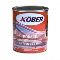Grund pentru metal, cu zinc, Kober Primer, interior / exterior, gri, 0.75 L