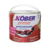 Grund pentru metal, cu zinc, Kober Primer, interior / exterior, gri, 2.5 L