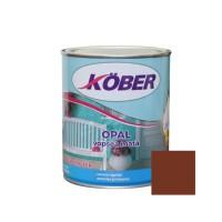 Vopsea alchidica pentru lemn / metal, Kober Opal, interior / exterior, maro ciocolata, 2.5 L