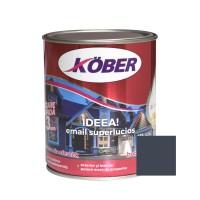 Vopsea alchidica pentru lemn / metal, Kober Ideea, interior / exterior, gri antracit, 0.75 L