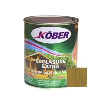 Lac / lazura 3 in 1 pentru lemn, Kober Ecolasure Extra, nuc, pe baza de apa, interior / exterior, 0.75 L