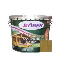 Lac / lazura 3 in 1 pentru lemn, Kober Ecolasure Extra, nuc, pe baza de apa, interior / exterior, 10 L